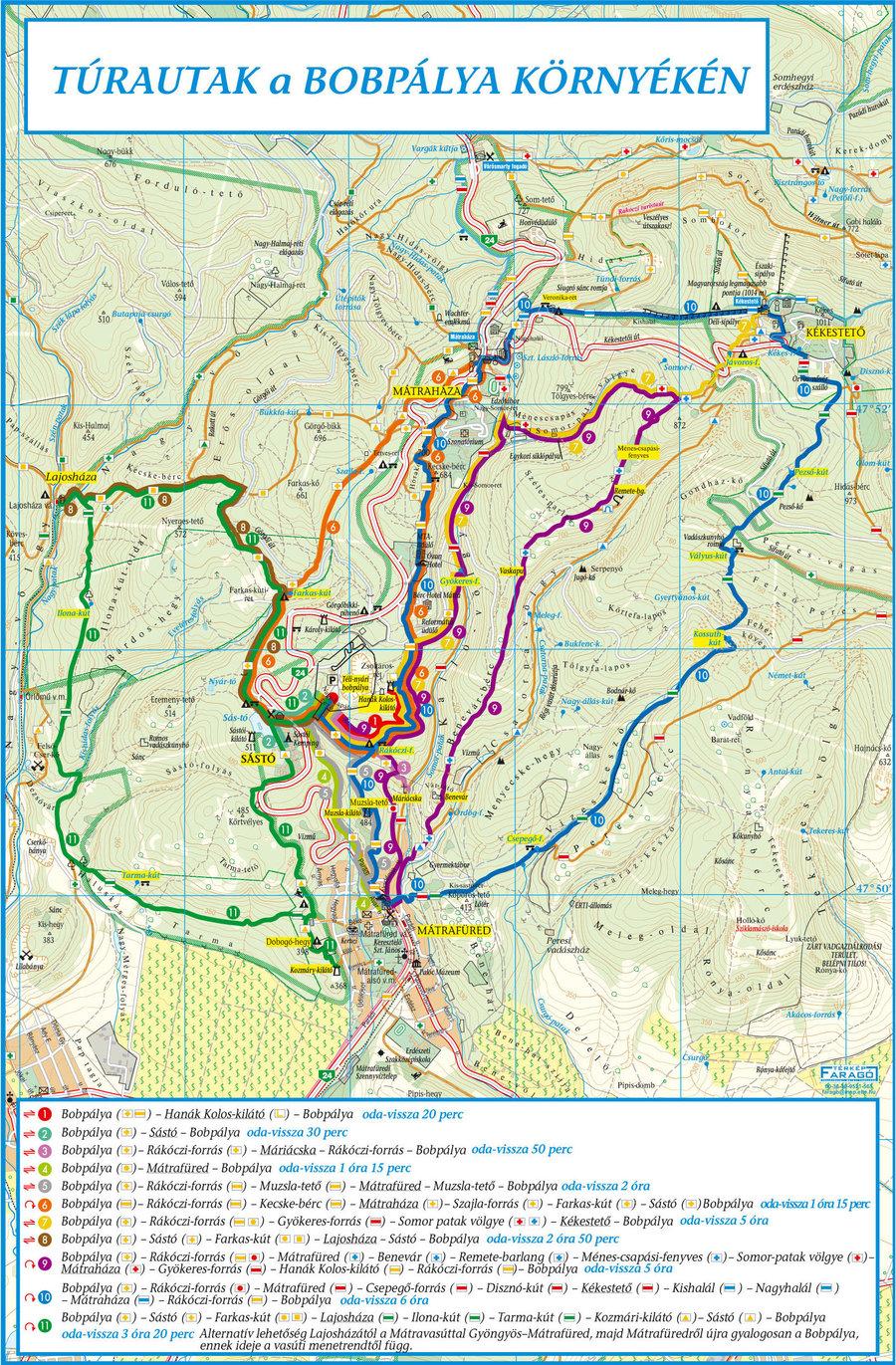 kékestető térkép Tourist Paths kékestető térkép